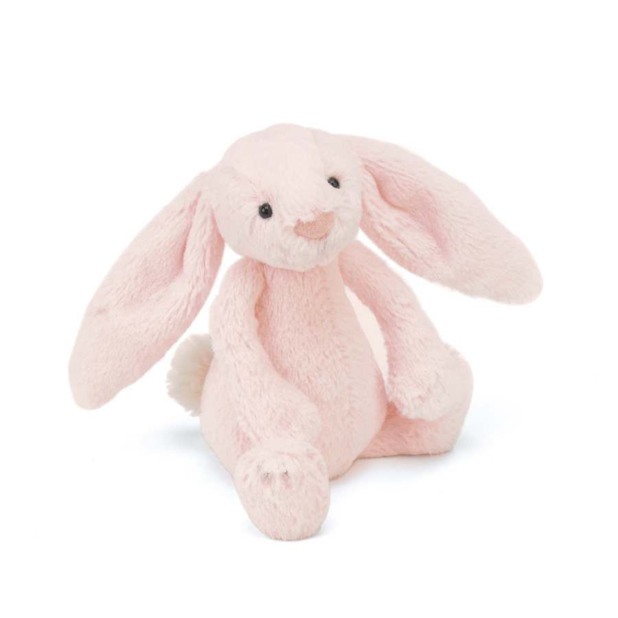 buy bashful pink bunny rattle   online at jellycat