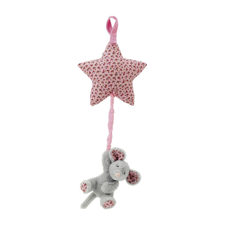 Blossom Grey Mouse Star Musical Pull