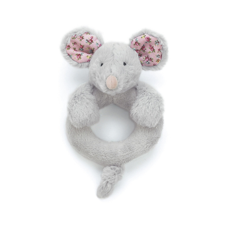 Blossom Grey Mouse Ring Rattle
