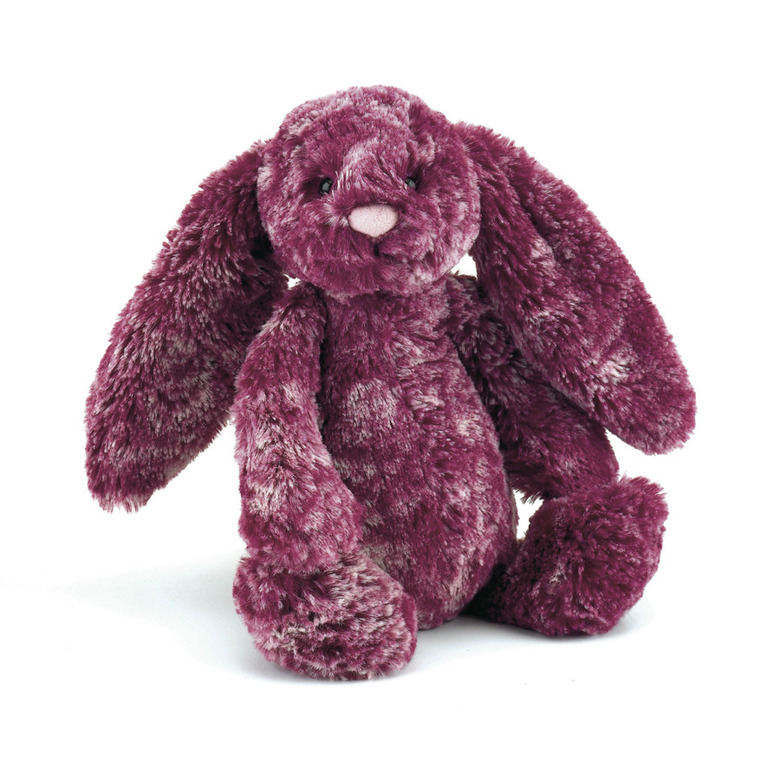 Bashful Blackberry Bunny Soft Toy