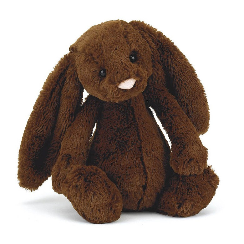 Bashful Chocolate Bunny Soft Toy