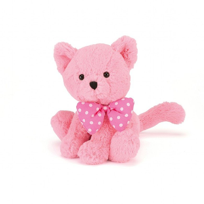 Big Bow Pink Kitten Soft Toy