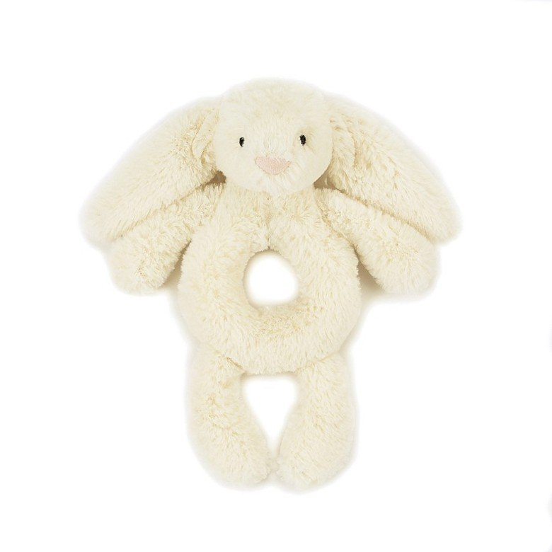 Bashful Bunny Grabber Cream Rattle