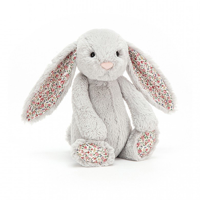 Blossom Silver Bunny Soft Toy