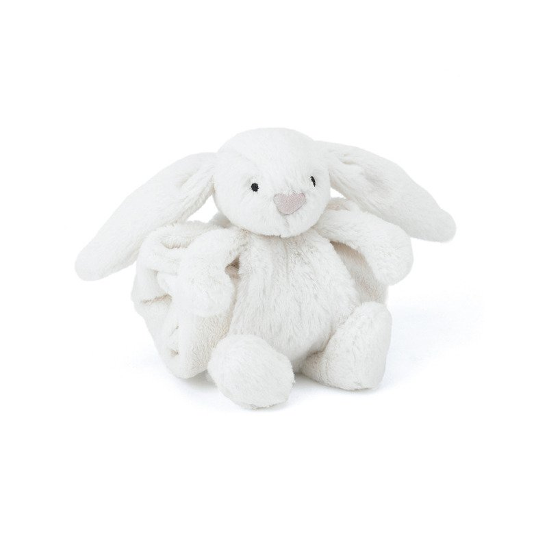 Bashful Cream Bunny Blankette