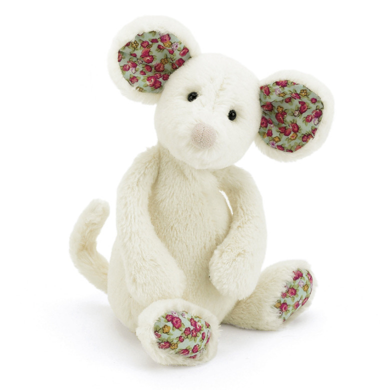 Bashful Blossom Cream Mouse Soft Toy