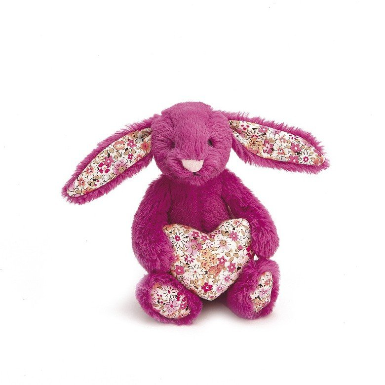 Blossom Heart Rose Bunny Soft Toy