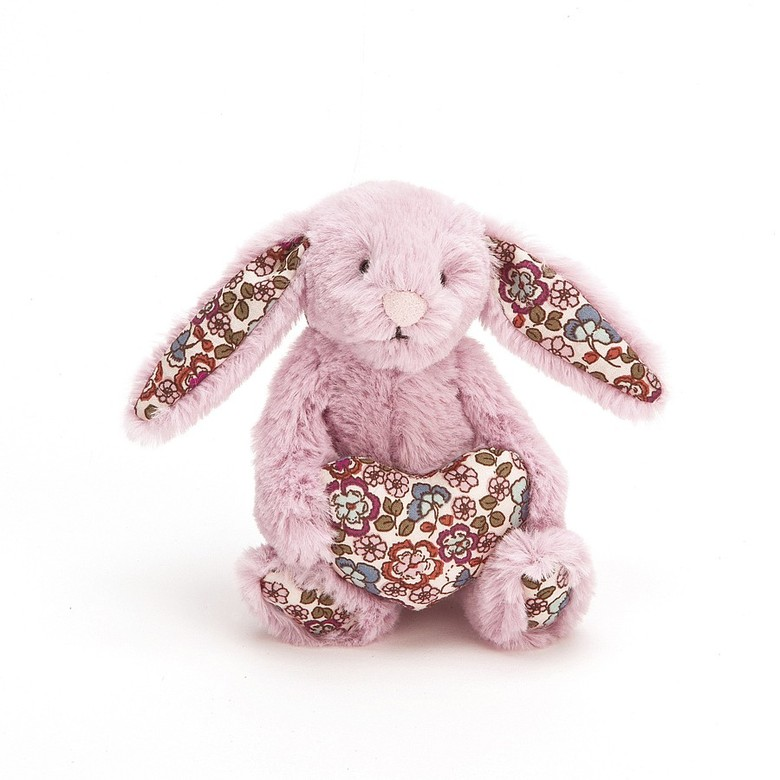Blossom Heart Tulip Pink Bunny Soft Toy