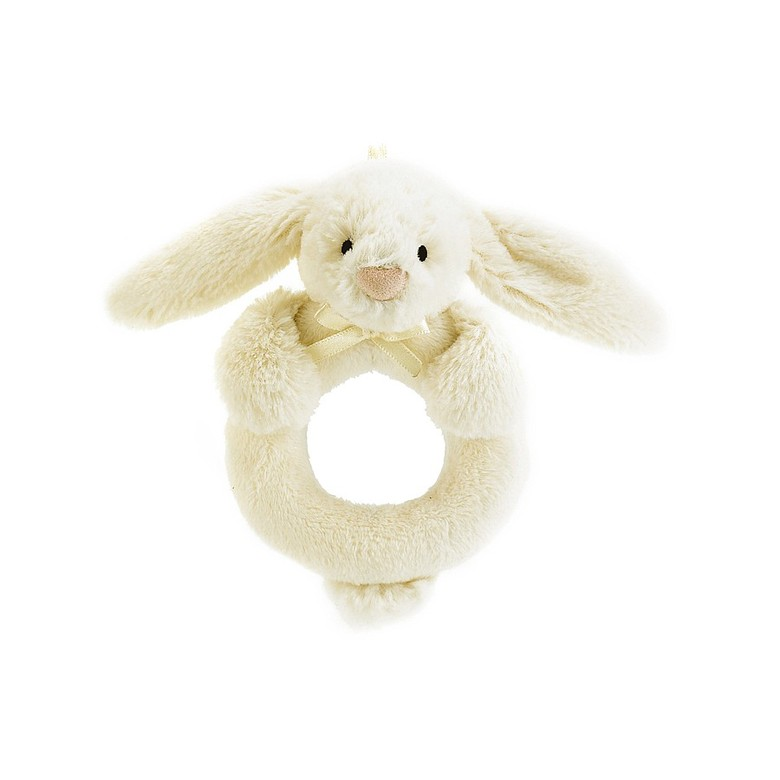 Bashful Cream Bunny Ring Rattle