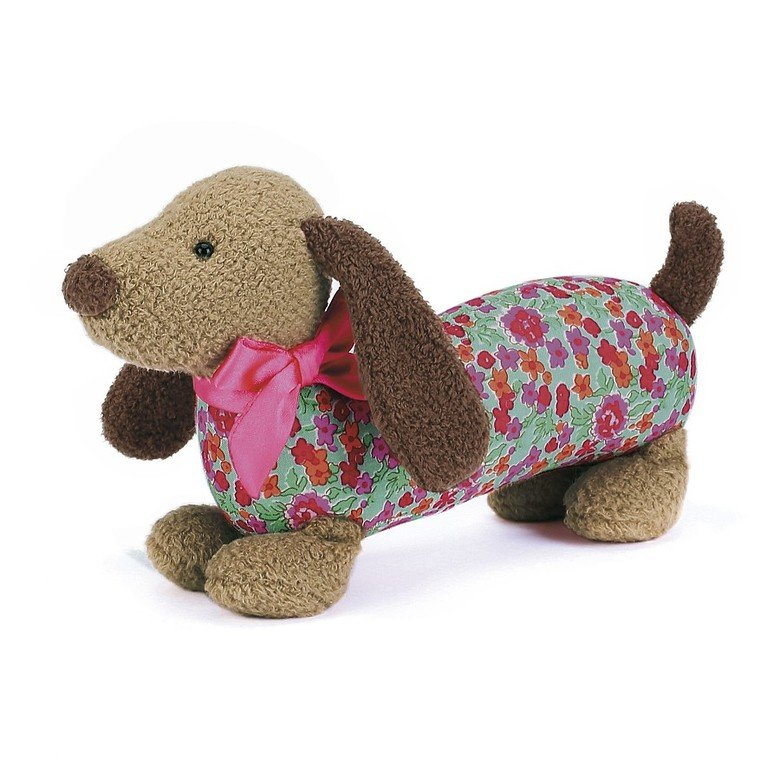 Dainty Brown Dog Soft Toy