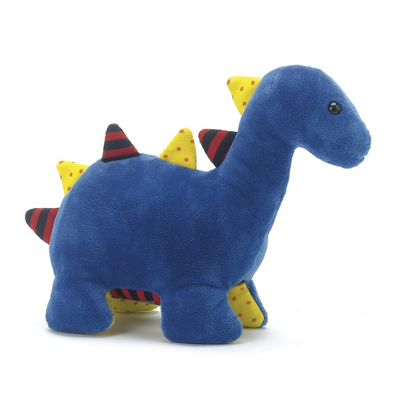 Dinky Blue Dino Rattle