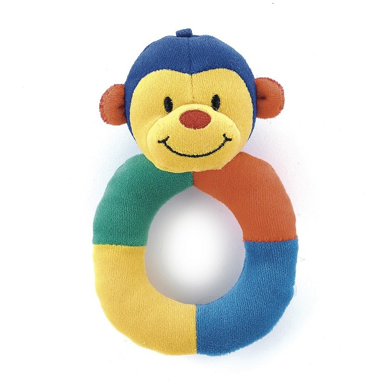 Hoopy Harlequin Monkey Ring Rattle