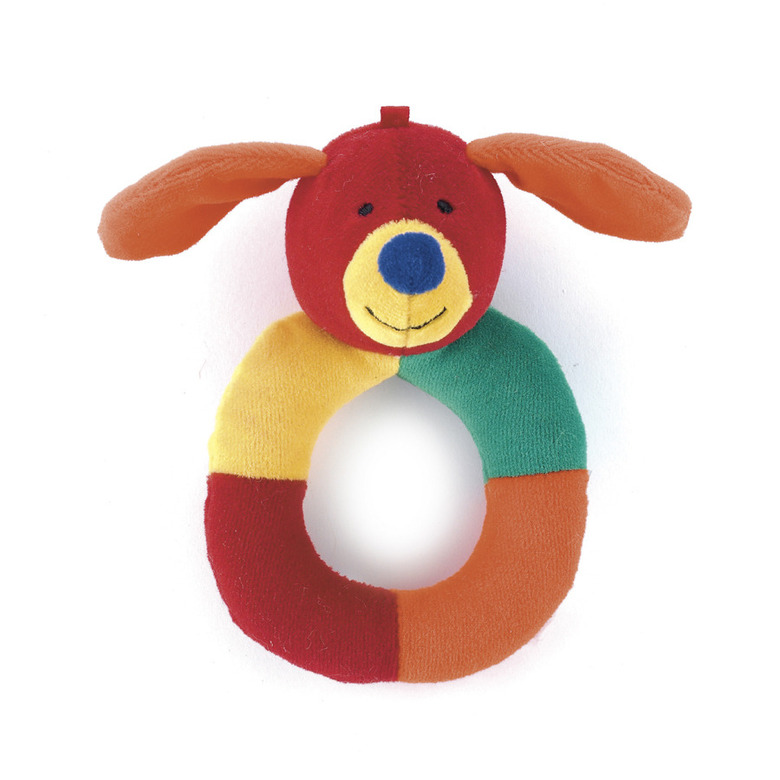 Hoopy Harlequin Puppy Ring Rattle