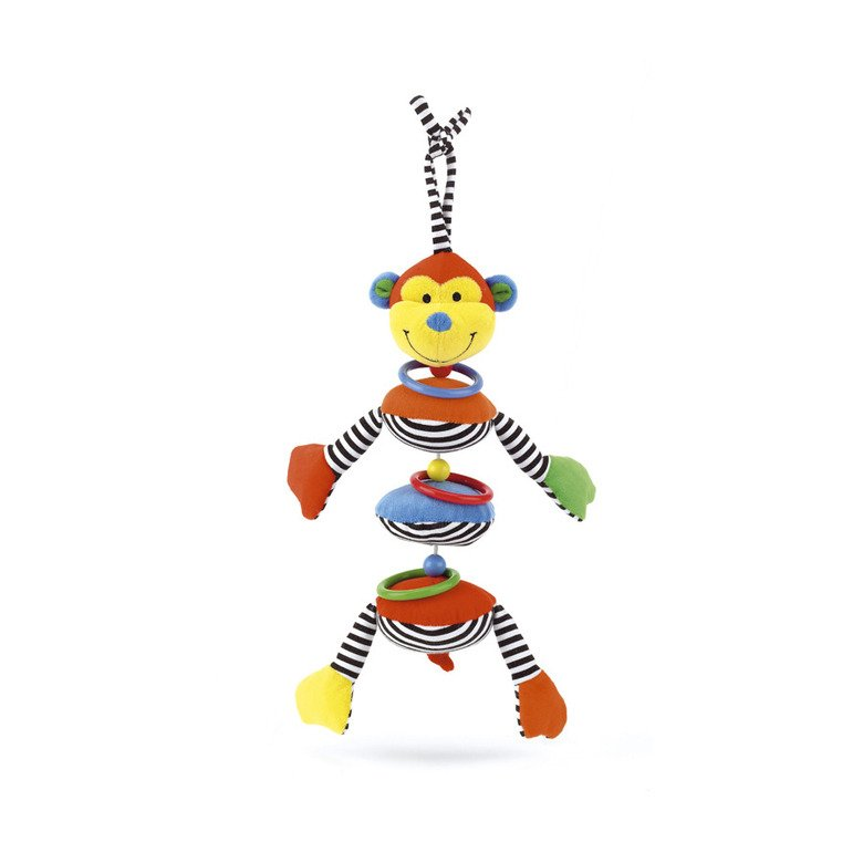 Hoopy Loopy Wobble Monkey Pram Toy