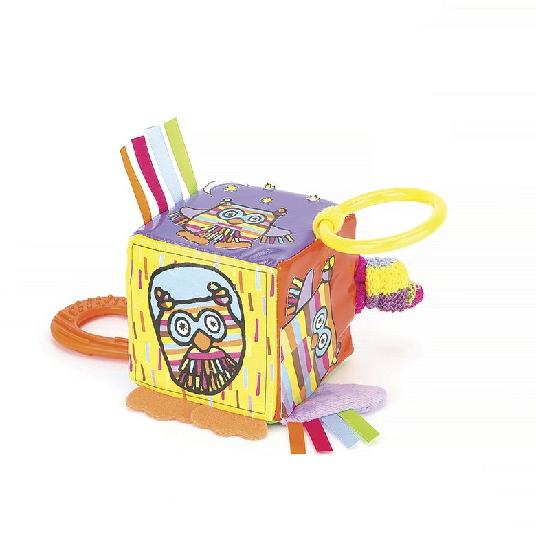 Hoot Teether Cube Activity Toy