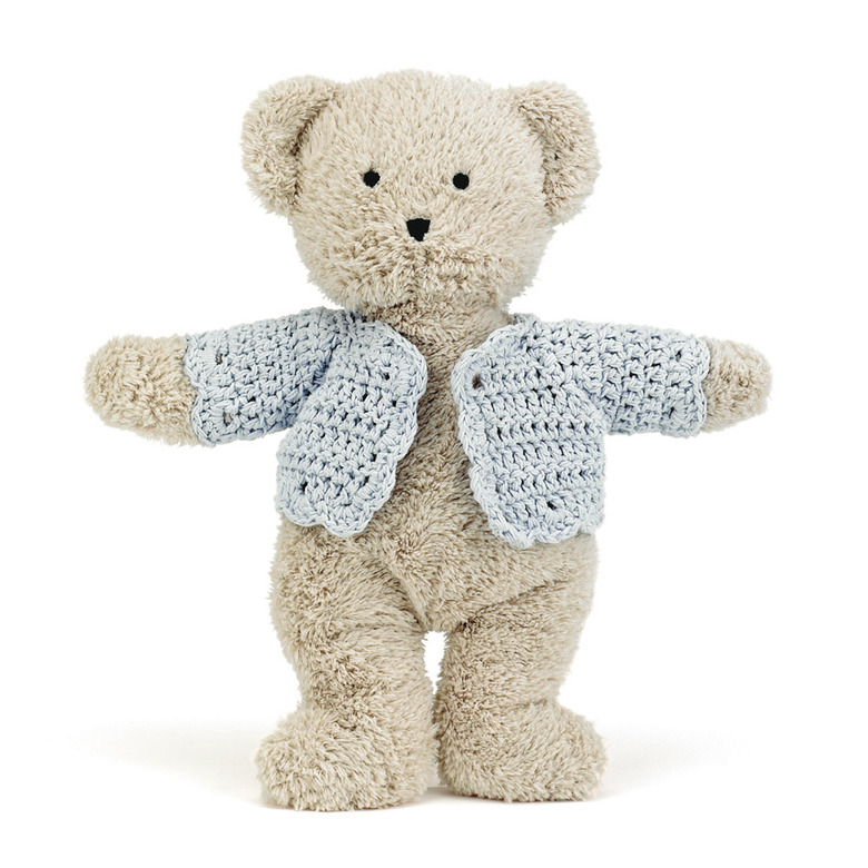Jacket Blue Bear Soft Toy