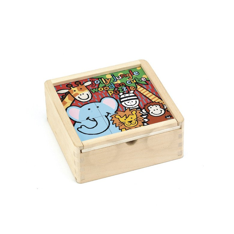 Jolly Jungle Cube Puzzle Wooden Toys