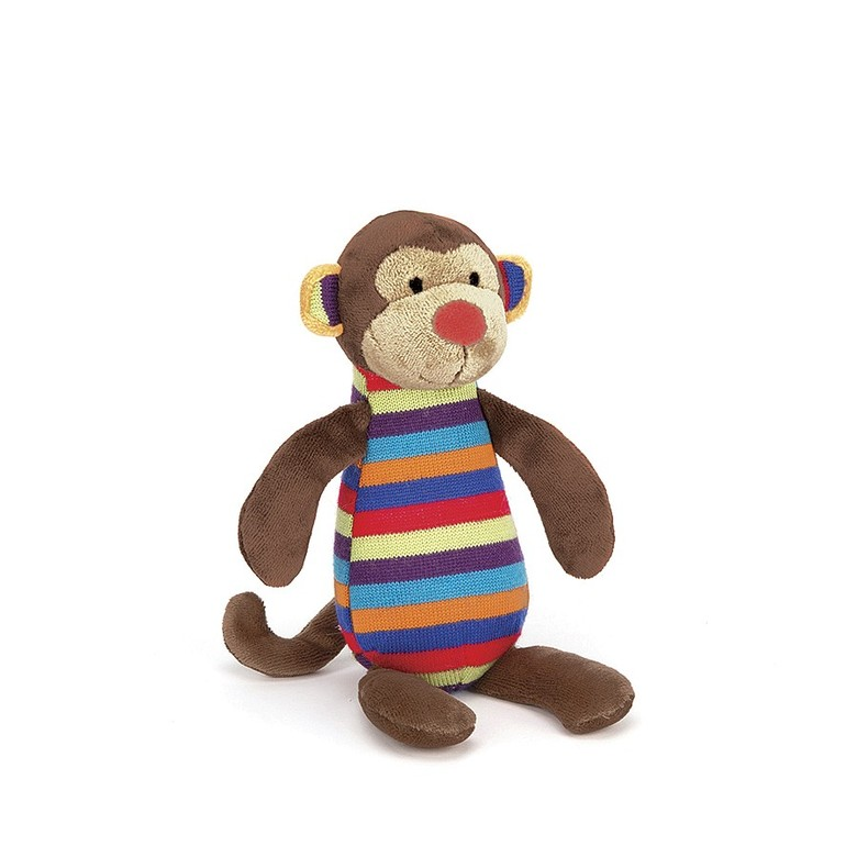 Jazzie Monkey Little Squeaker Toy