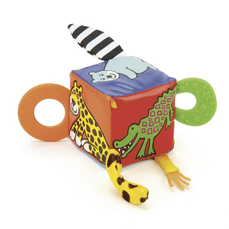 Jungly Tails Teether Cube Activity Toy