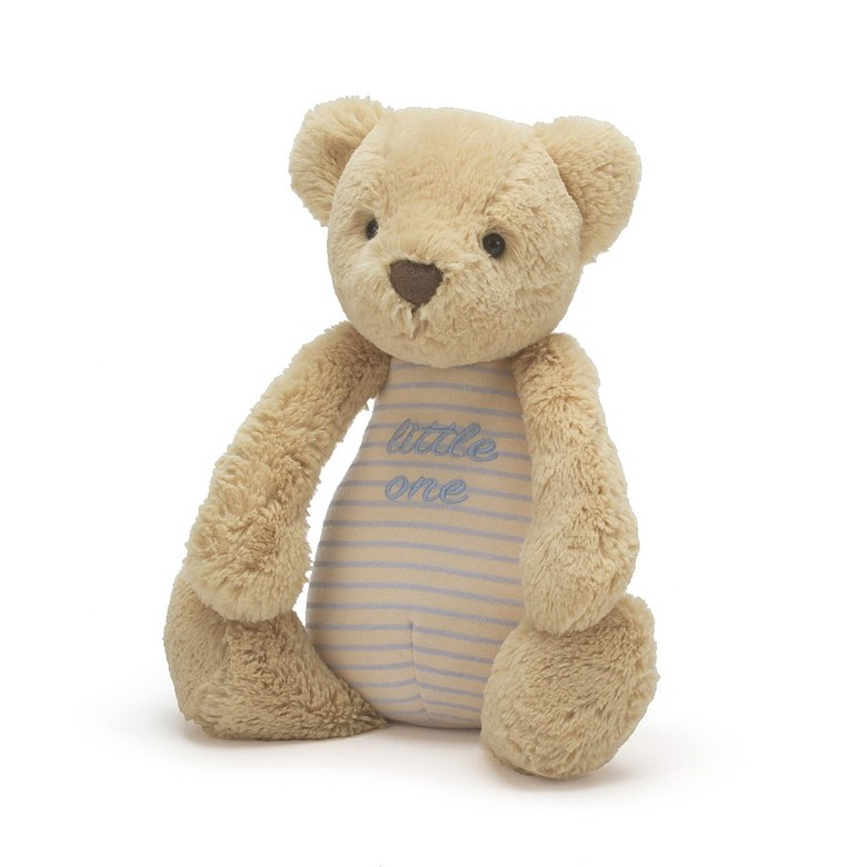 Little One Bear Blue Soft Toy