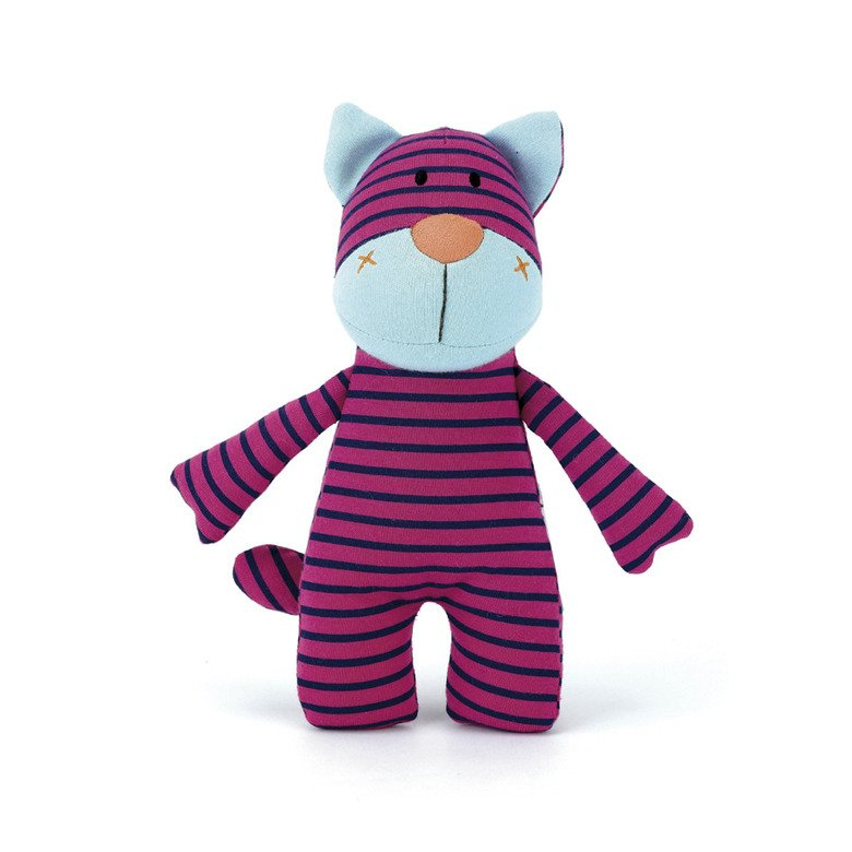 Stripey Pink Cat Rattle
