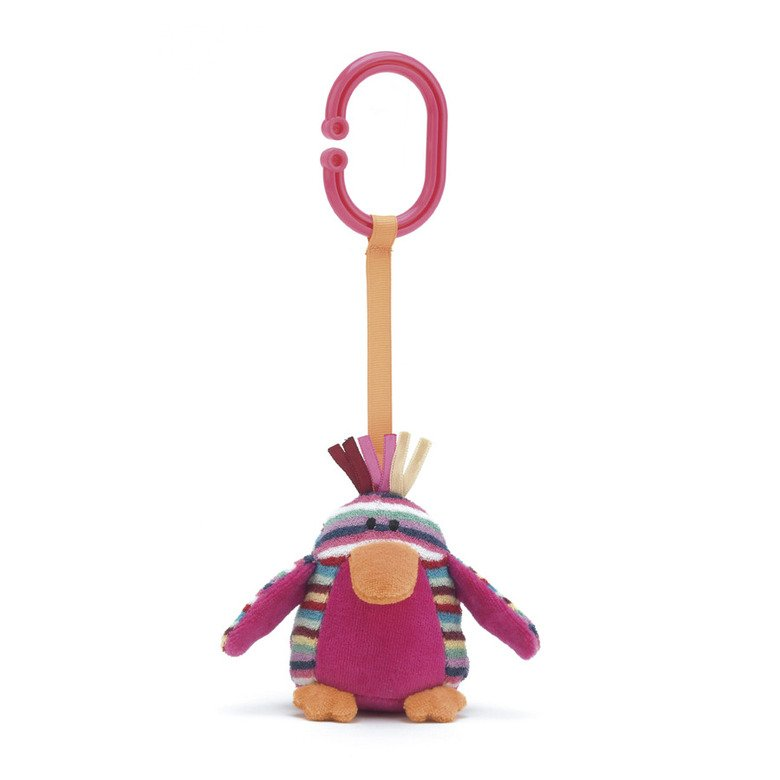 Maypole Pink Bird Pram Toy