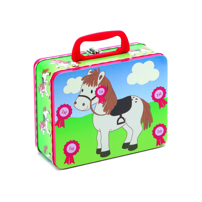 Peppermint Pony Tin Case Glasses Case