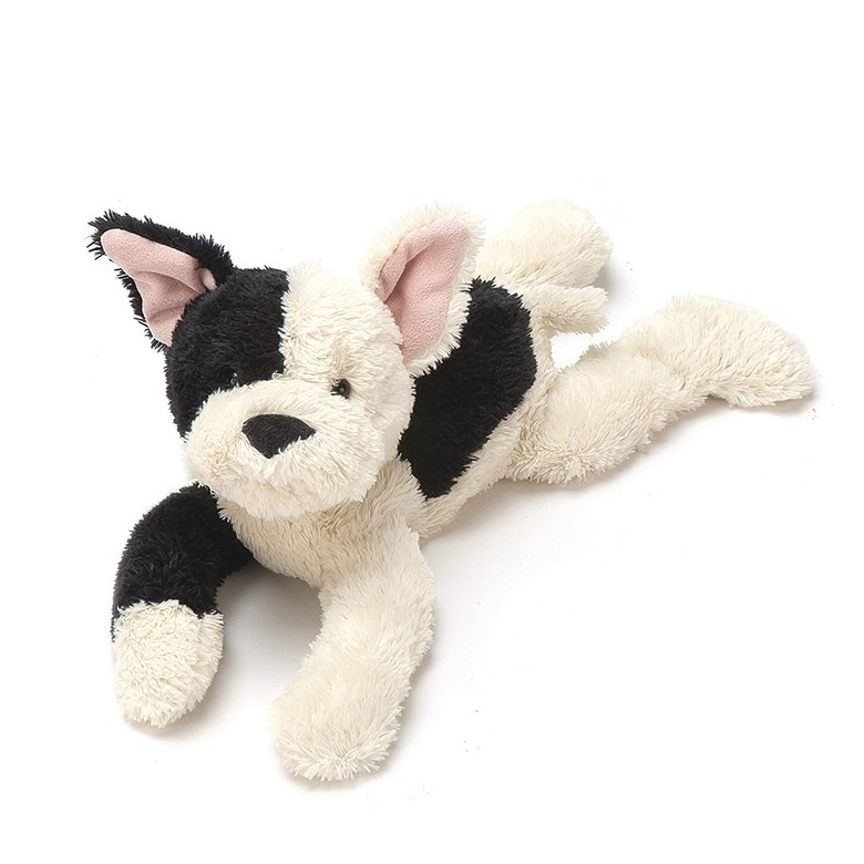 Black and Cream Mishmash Puppy Soft Toy