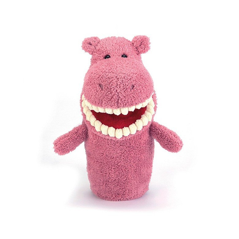 Toothy Hippo Hand Puppet Soft Toy