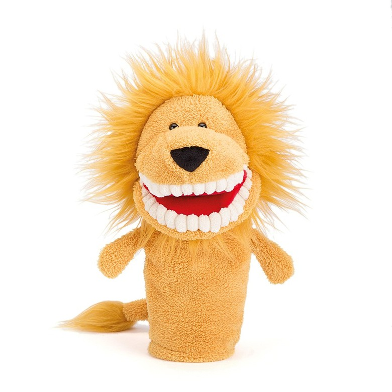 Toothy Lion Hand Puppet Puppets