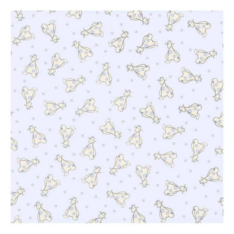 Junglie Blue Giraffe Wrapping Paper