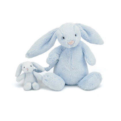 Bashful Blue Bunny Musical Pull
