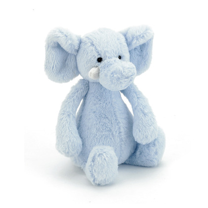 Bashful Blue Elly Rattle
