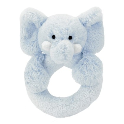 Bashful Blue Elly Ring Rattle