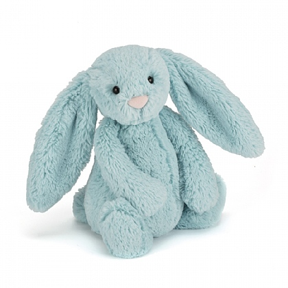 Bashful Aqua Bunny Soft Toy