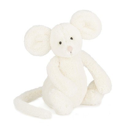 Bashful Cream Mouse Soft Toy