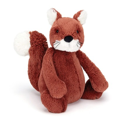Bashful Squirrel Soft Toy