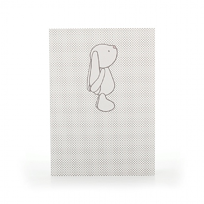 Bashful Bunny Beige Spots A6 Note Book