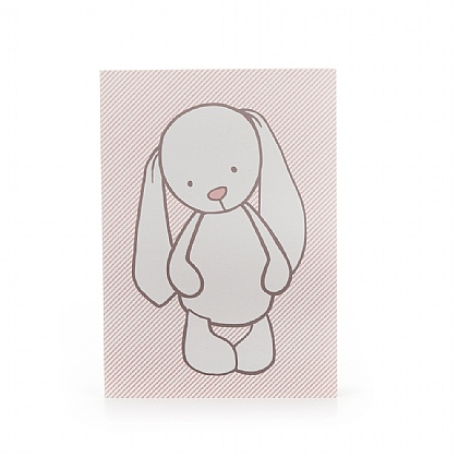 Bashful Bunny Pink Stripes A6 Note Book