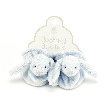 Bashful Blue Bunny Booties