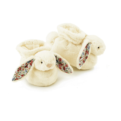 Bashful Blossom Cream Bunny Booties