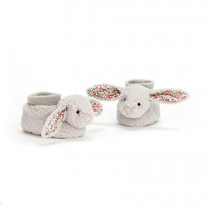 Blossom Silver Bunny Booties