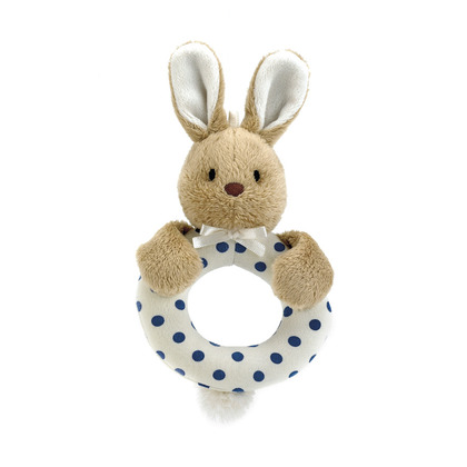 Puff Blue Bunny Ring Rattle