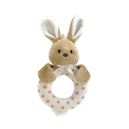 Puff Pink Bunny Ring Rattle