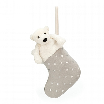 Bashful Polar Bear Stocking