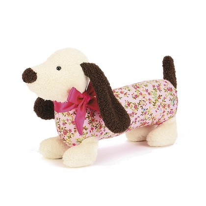 Dainty Cream Dog Soft Toy