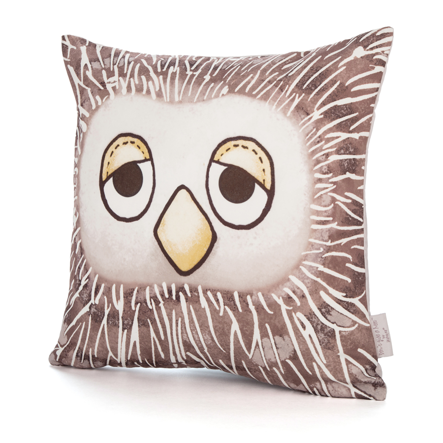 Don't Give a Hoot Square Cushion
