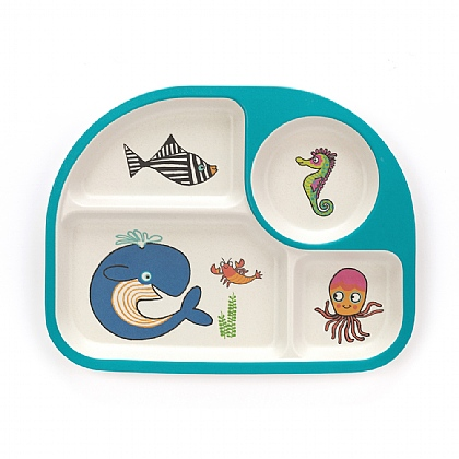 Sea Tails Bamboo Divided Plate