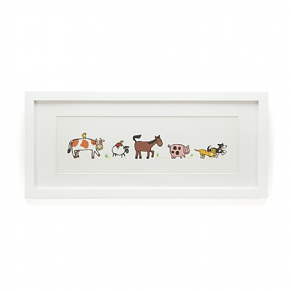 Farm Tails Framed Print