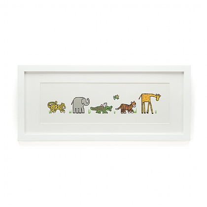 Jungly Tails Framed Print